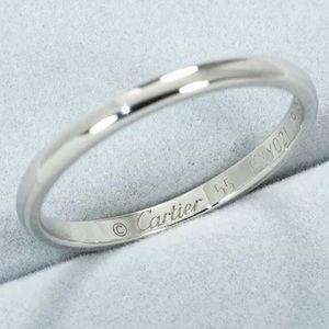 Authentic Cartier Platinum Wedding Band size 7.25
